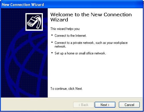 Bảng New Connection Wizard