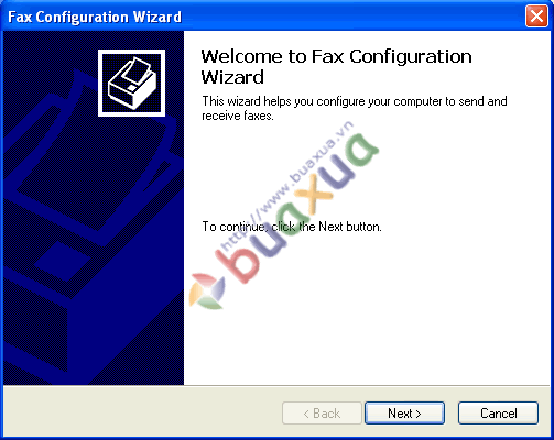 Fax configuaration wizard