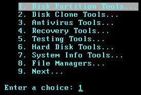chọn Disk Partition Tools
