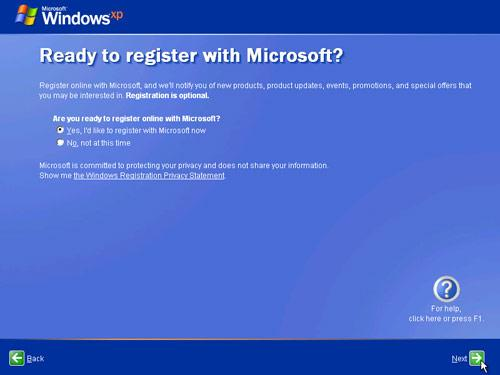 Ready to register with Microsoft?