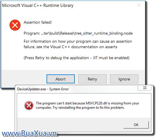 Cách cài đặt thư viện Microsoft Visual C++ - BuaXua vn