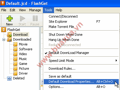 Default Download Properties
