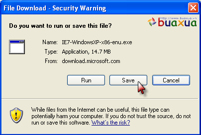 Save Security warning