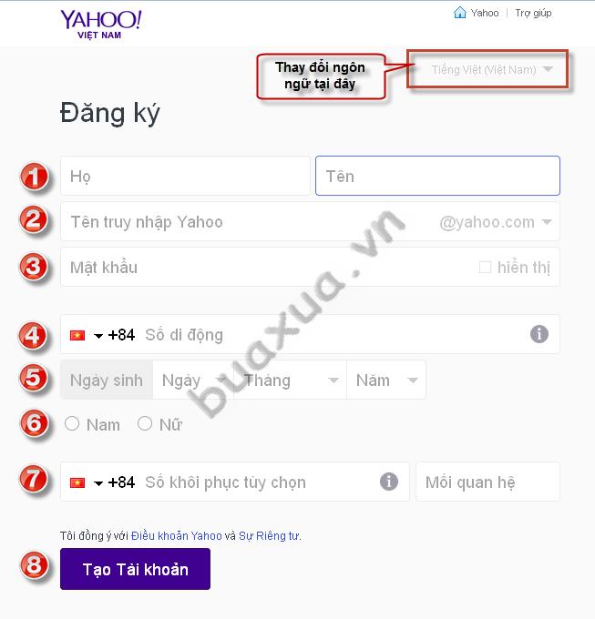 Yahoo com vn dang ki