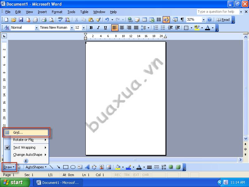 Phân chia trang giấy bằng công cụ tạo lưới (Grid)