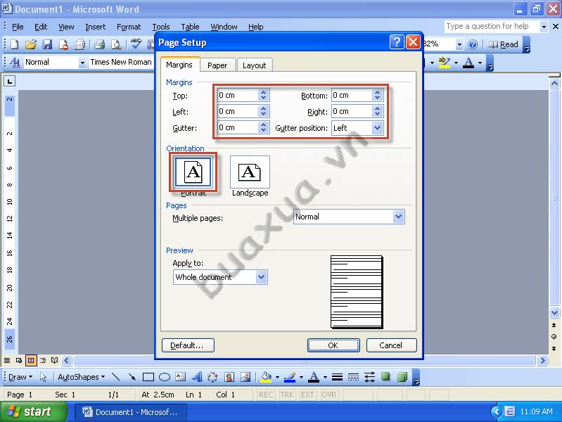 Định dạng khổ giấy cho bảng tên