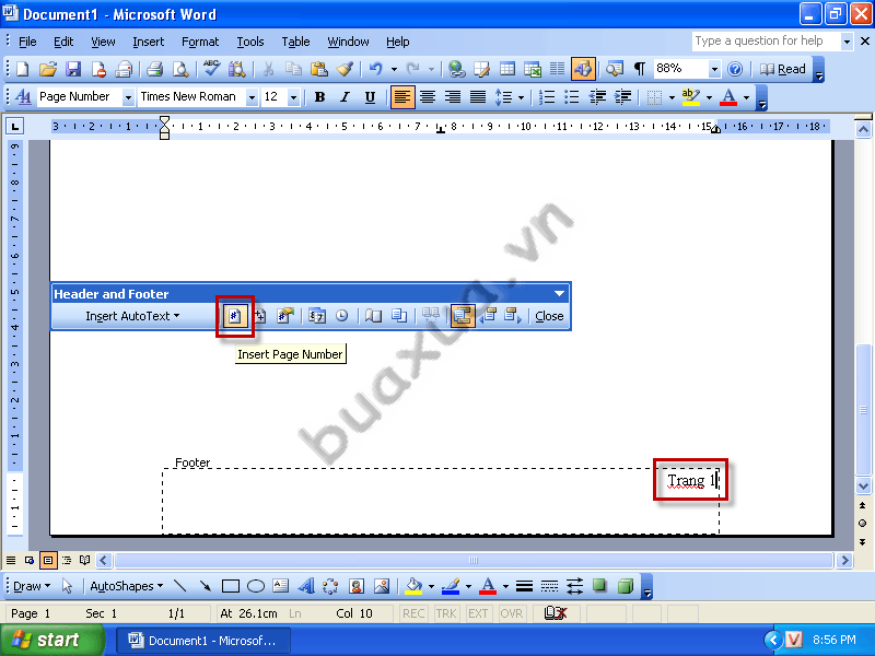 how to create different page numbers in word 2010