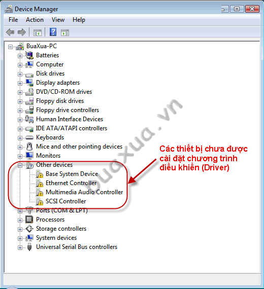 Cửa sổ Device Manager