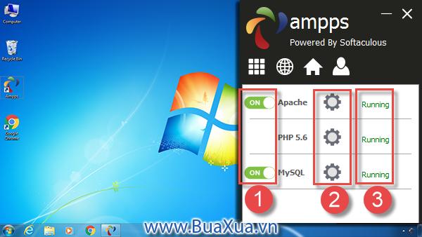 Cách cài đặt chương trình máy chủ Localhost - AMPPS Server - BuaXua vn