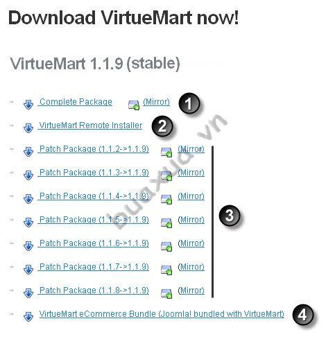 Download VirtueMart