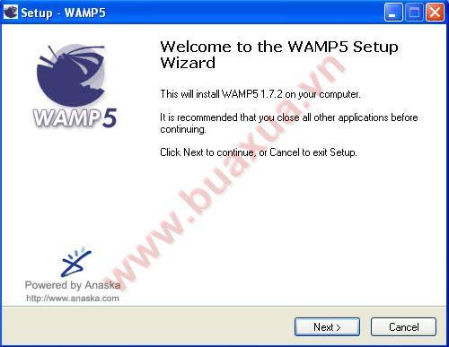 Welcome to the WAMP5 Setup Wizard