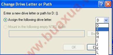 drive letter select