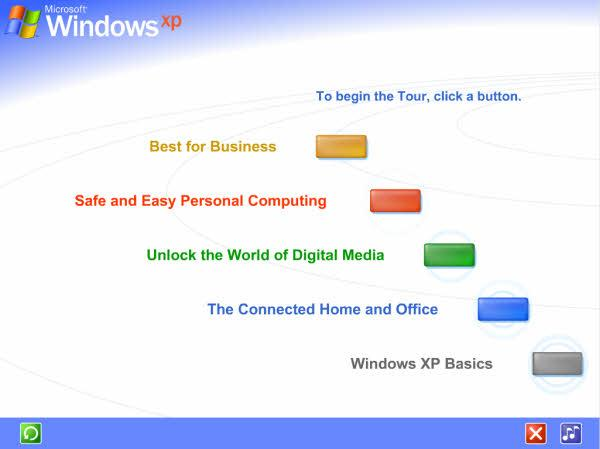 Take a tour of Windows XP
