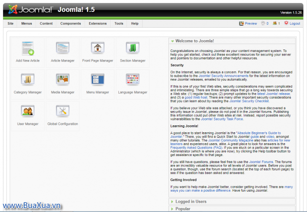 Joomla! 1.5 Back-end